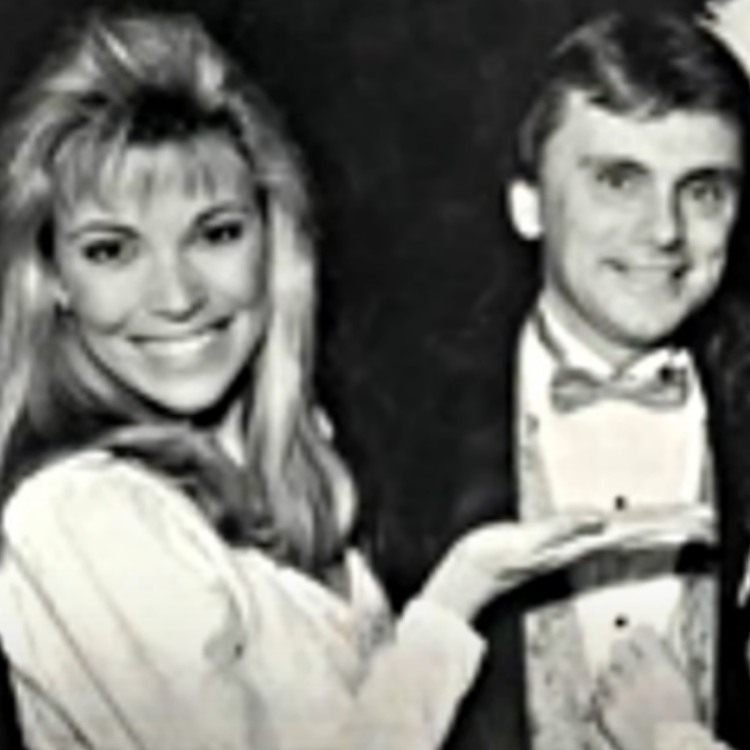 Young Vanna White and young Pat Sajak