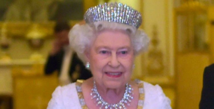 Queen Elizabeth wearing tiara