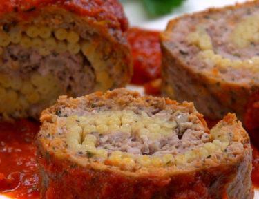 Pasta-Stuffed Meatloaf Roll FI
