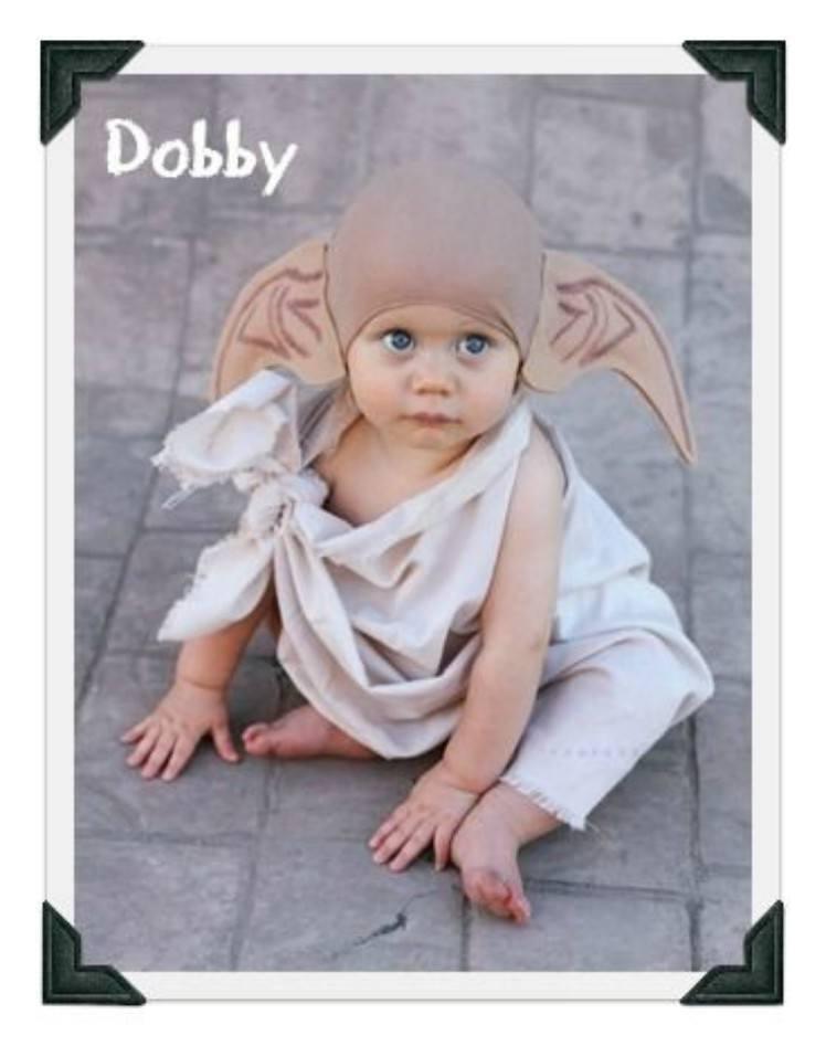 Baby in Dobby costume