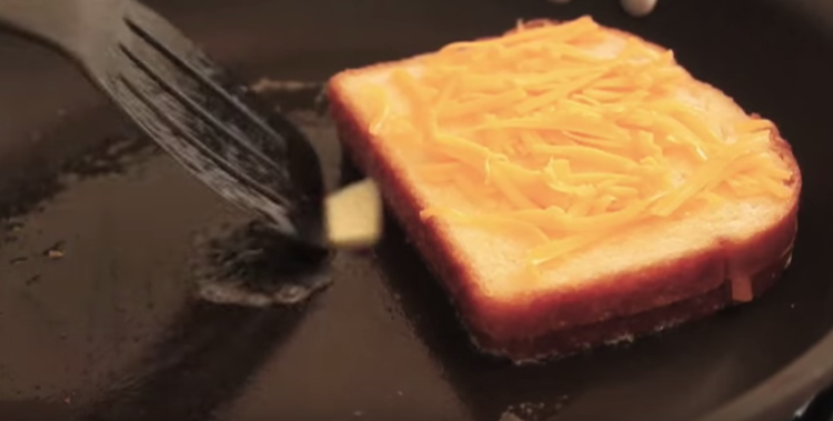 Inside-Out Grilled Cheese