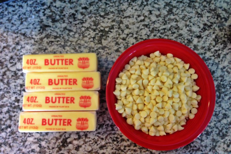 OP LvH White Chocolate Buttercream Ingredients