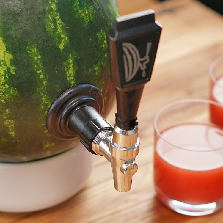 Spark some juicy conversation with this summer party centerpiece! Our video makes it easy to tap a DIY watermelon keg filled with boozy watermelon punch.