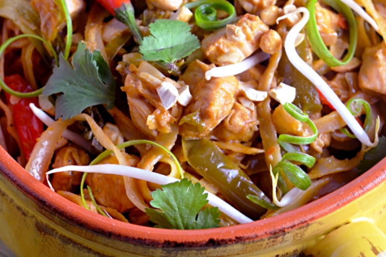 pasta thai chicken