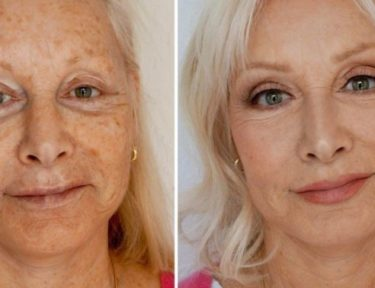 Photo of makeup artist's mom's makeover.