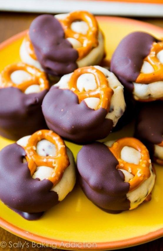 Cookie Dough Pretzels
