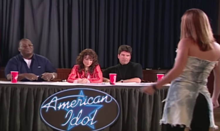 Image of Kelly Clarkson at first American Idol audition.