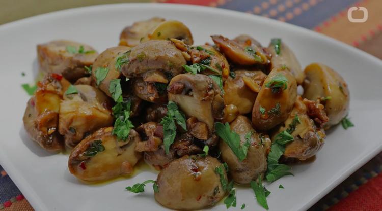 Image of mushrooms on plate