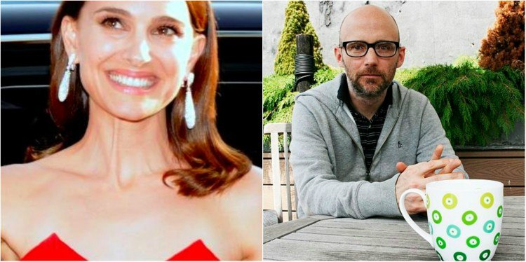Natalie Portmand and Moby splitimage