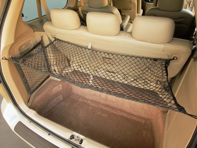Image of rear seats and cargo area in a 2004 Honda Odyssey.