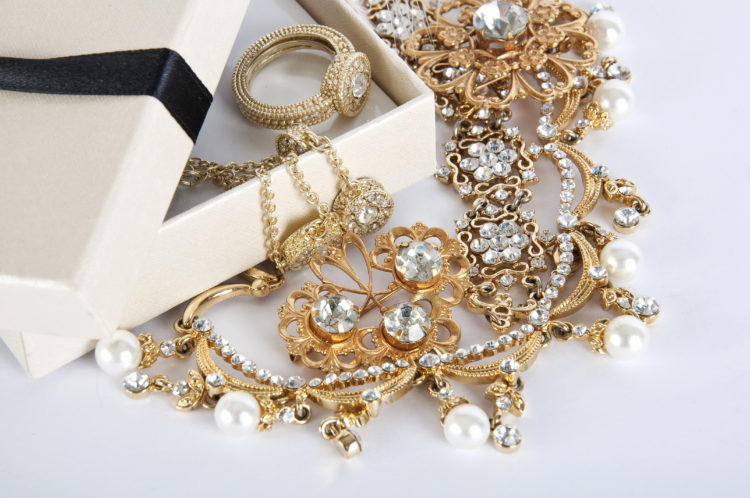 Image of assortment of gold jewelry