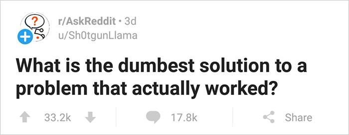 Screenshot of Reddit post.