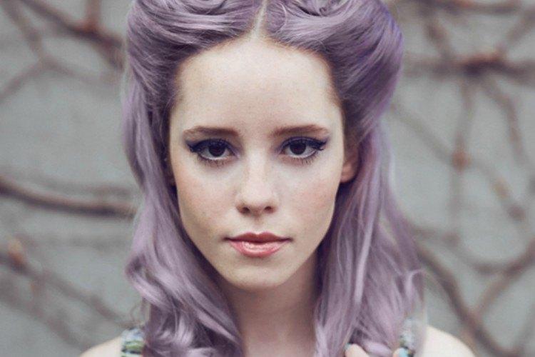Image of purple hair from kool aid.