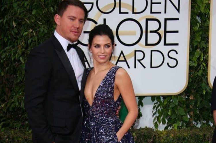 Channing and Jenna pose at Golden Globes