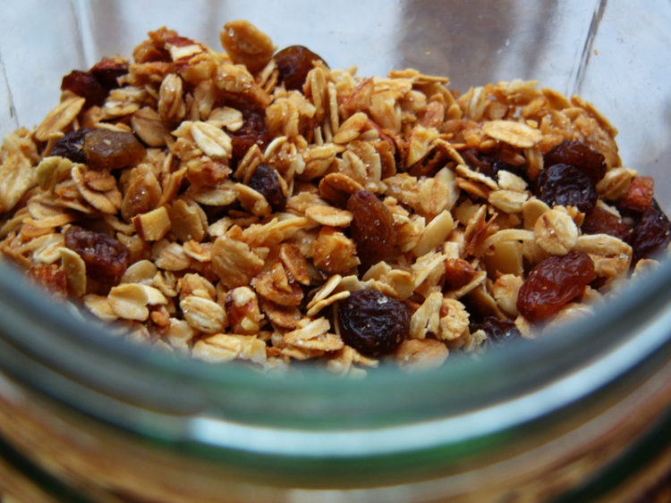 Image of granola in bowl