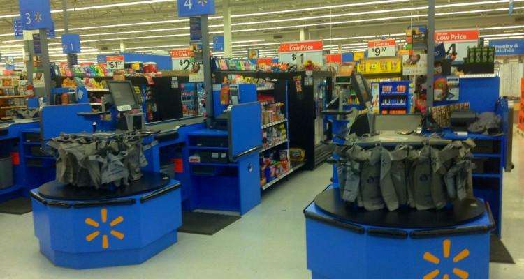 Walmart checkout lanes