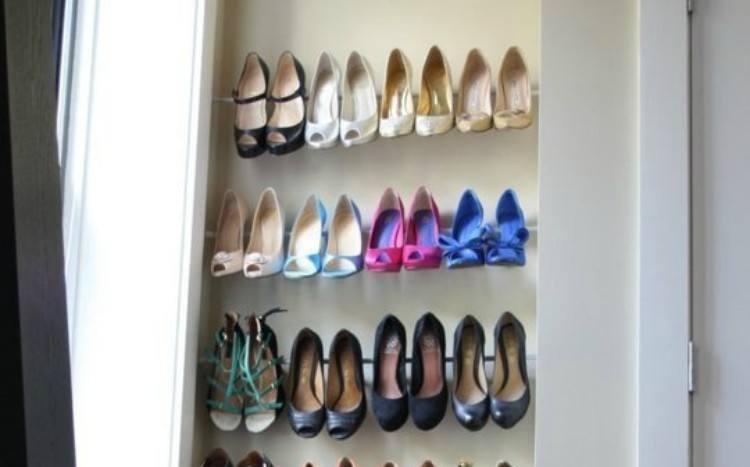 curtain rod shoe organizer