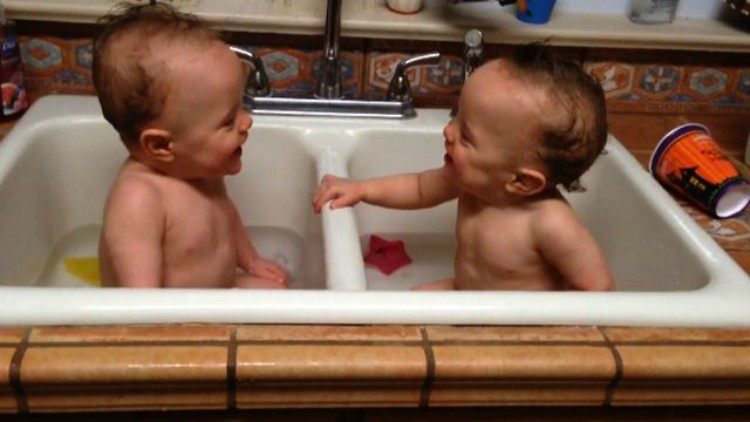 A montage of twin babies being adorable!