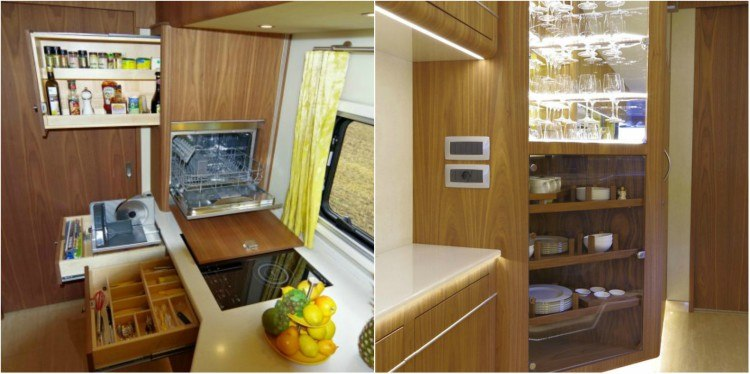 Image of inside of luxury motor home.