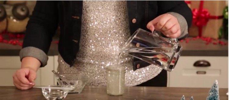 water mason jar