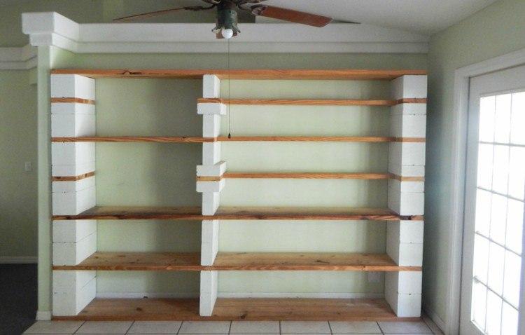 cinder block book shelf