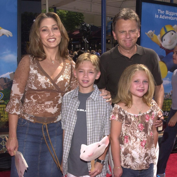Lesly Brown, Pat Sajak, and son and daughter