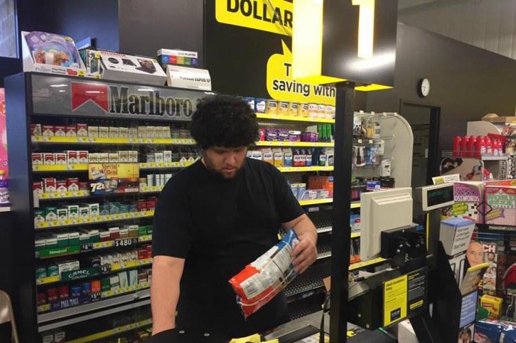 Image of cashier at Dollar General.