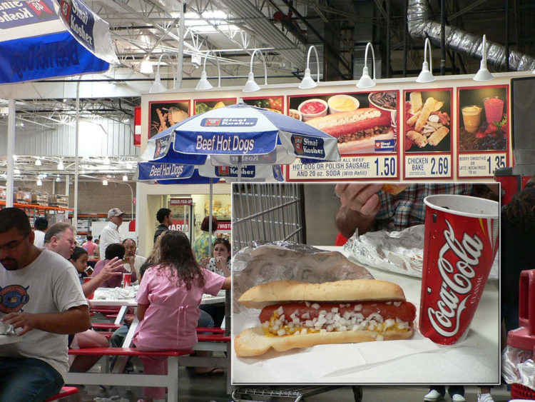 Image of Costco hot dog and drink.