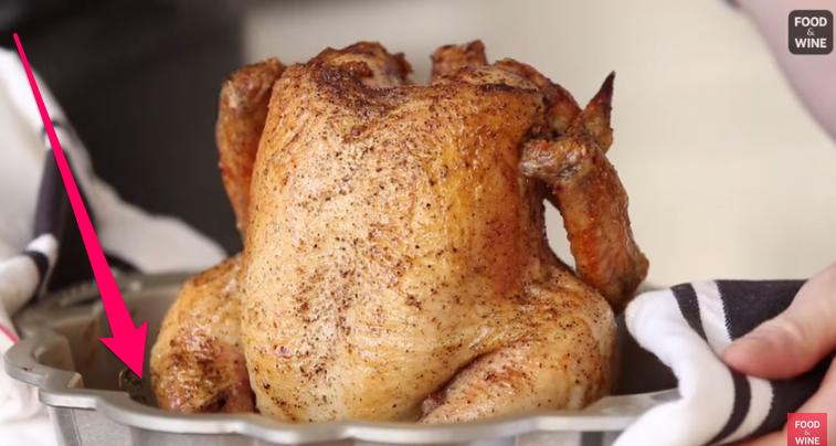 cook chicken in bundt pan