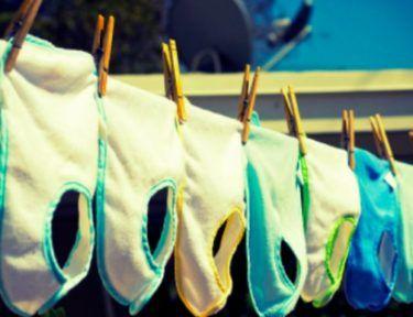 bibs on a clothesline