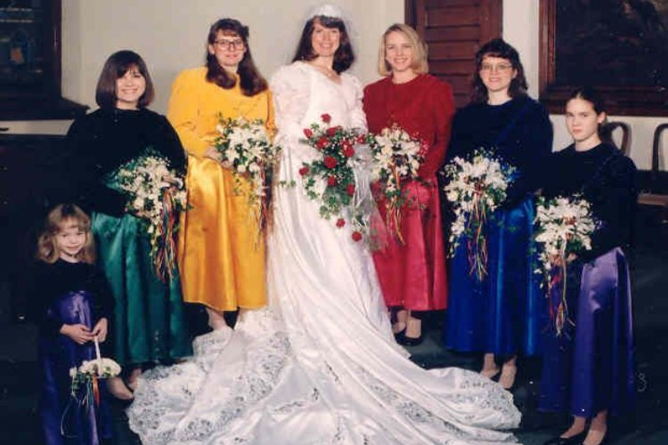 bridesmaids jeweltones