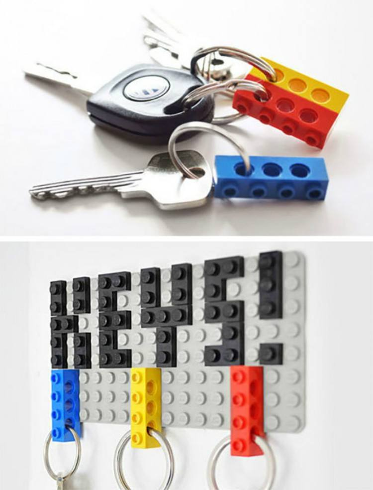 Board for keys made of LEGOs.