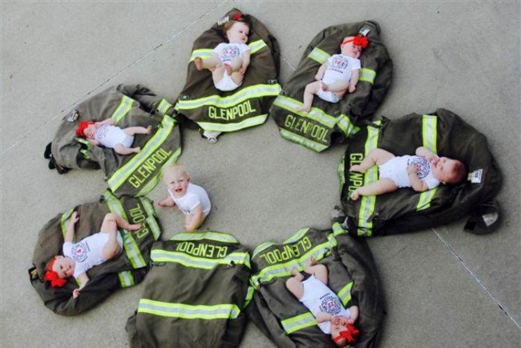 Glenpool Fire Station babies.