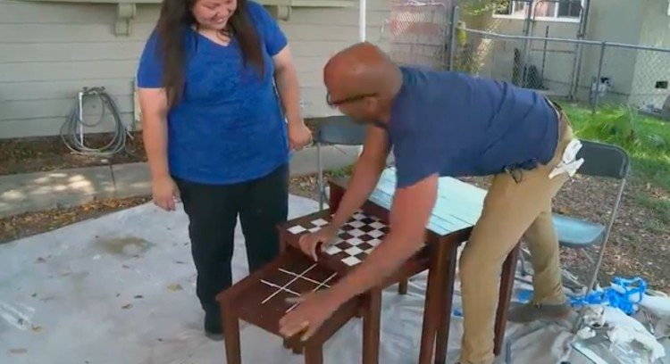 host shows nesting table game boards