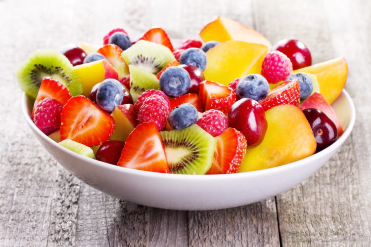 Image of salad with fresh fruits and berries