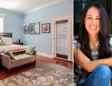 blue room and Joanna Gaines splitscreen