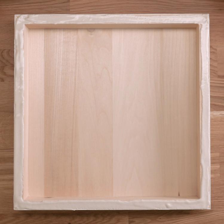 Succulent Wall Garden wood glue box