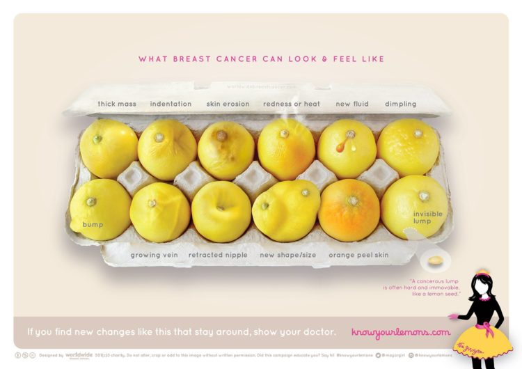 Image of lemons in shapes and sizes that may depict breast cancer