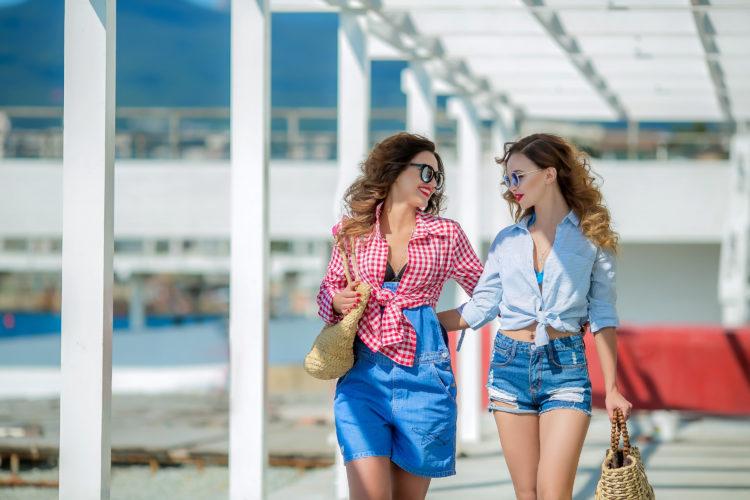 Image of girls walking laughing together