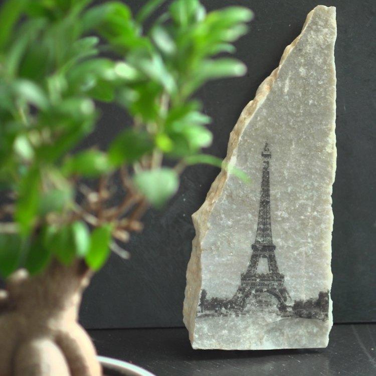 How to transfer photos to stone