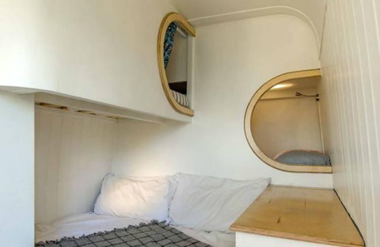 view of camper van capsule bunk beds