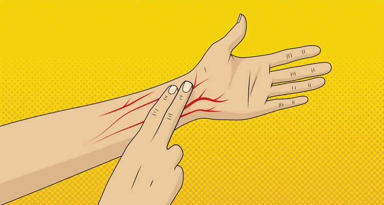 Image of fingers on pulse.
