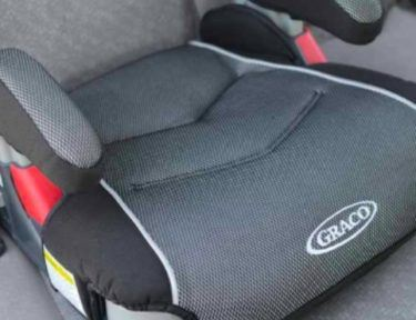 child's booster seat in car