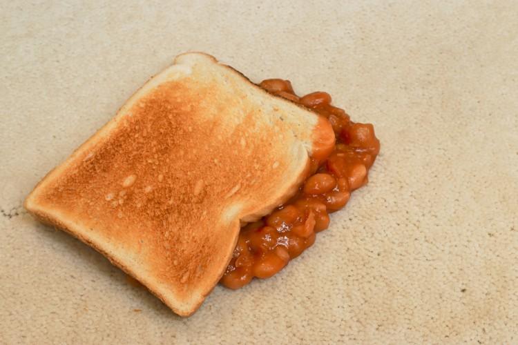 Image of sandwich on ground