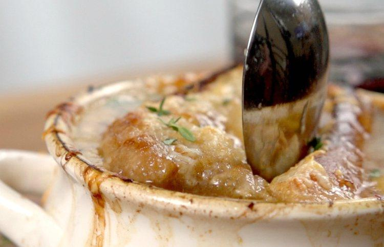 French Onion Soup in Slow Cooker