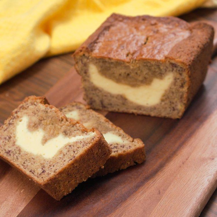 Cream-Cheese-Filled Banana Bread hero shot