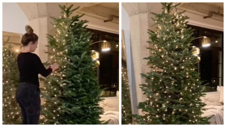 Tiktok Hack Shows Why You Should Be Hanging Your Christmas Tree Lights Vertically