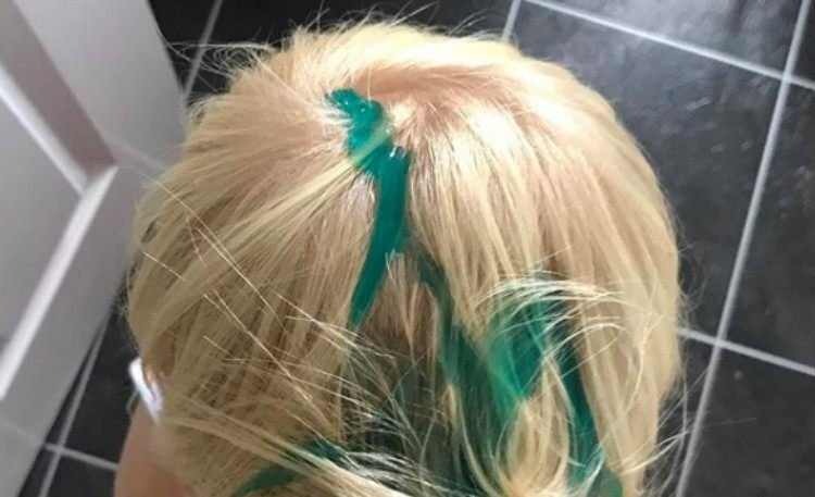 kid toothpaste hair