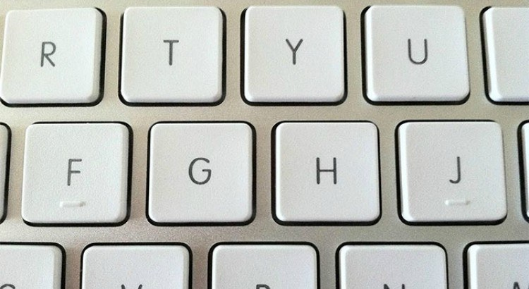 Marks on keyboard.