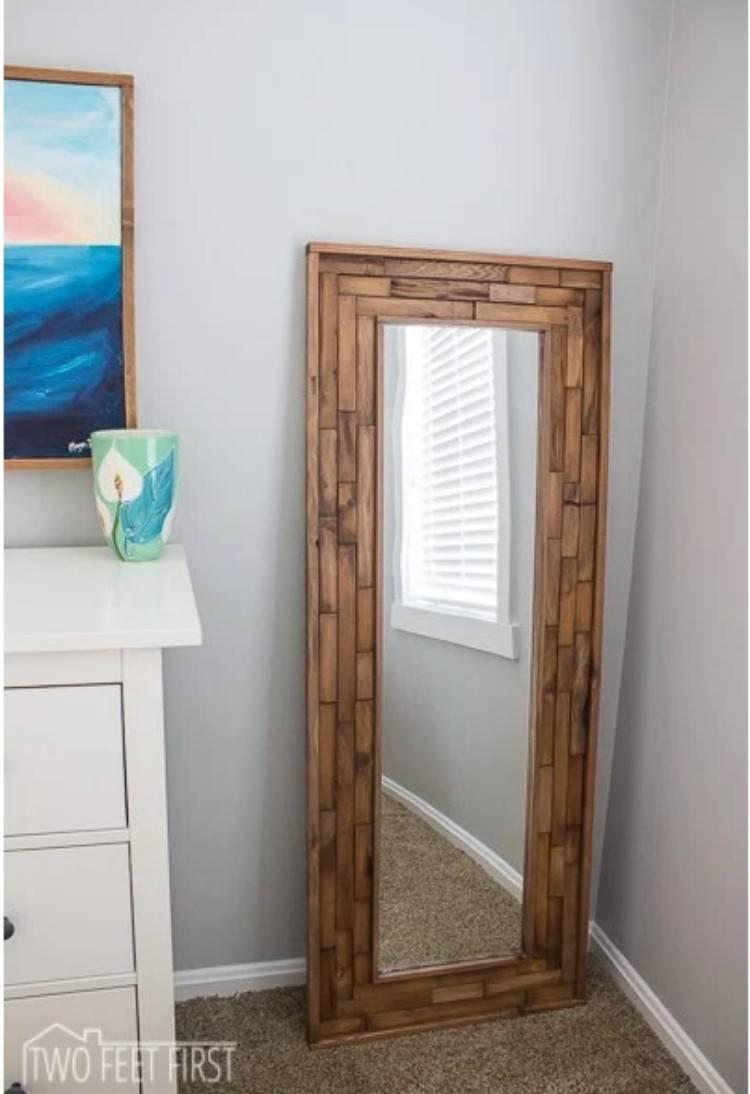 Wood Pannel Mirror